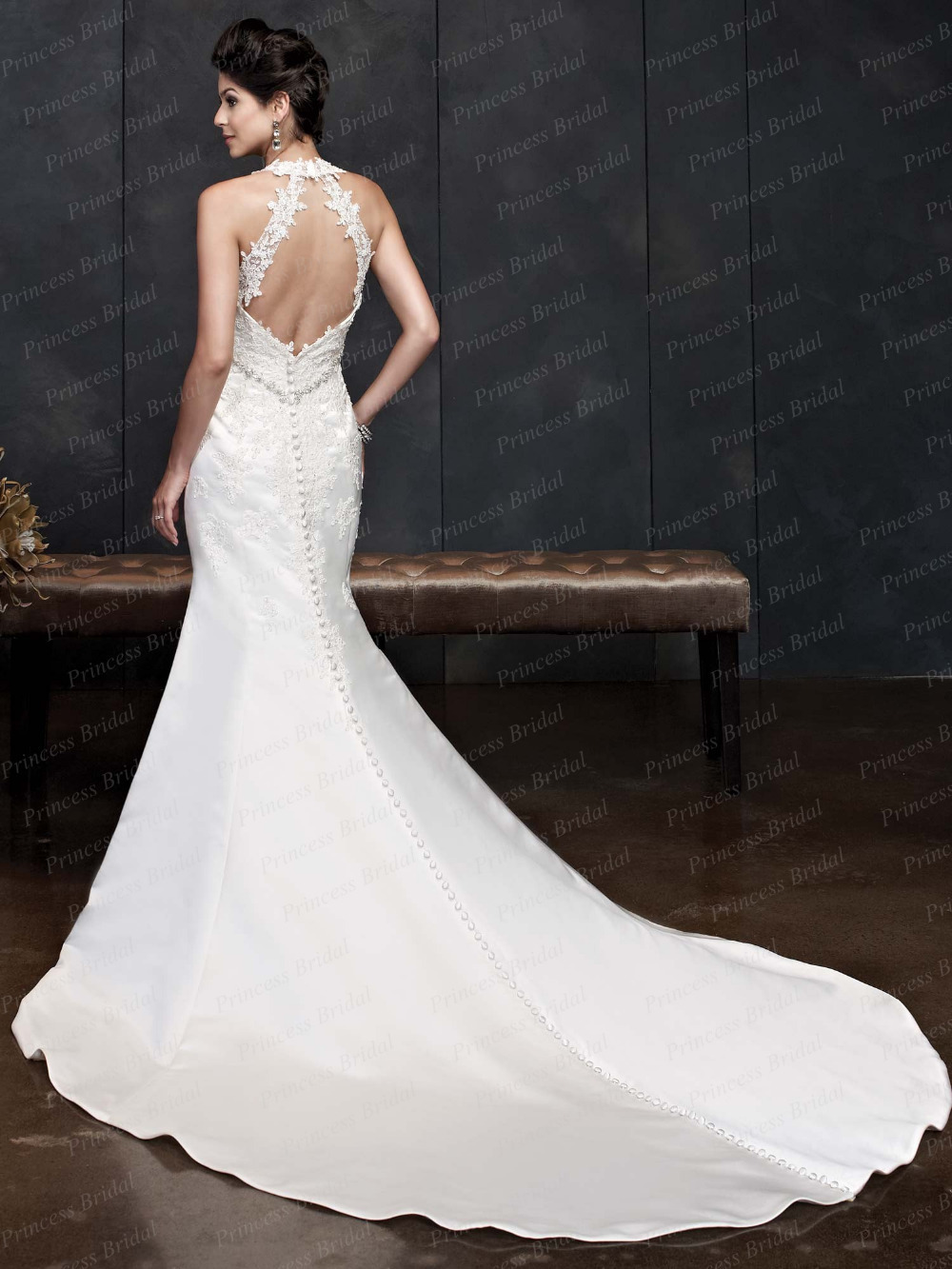 Fishtail Wedding Dress With Low Back Cut Dresses Galleryhip The