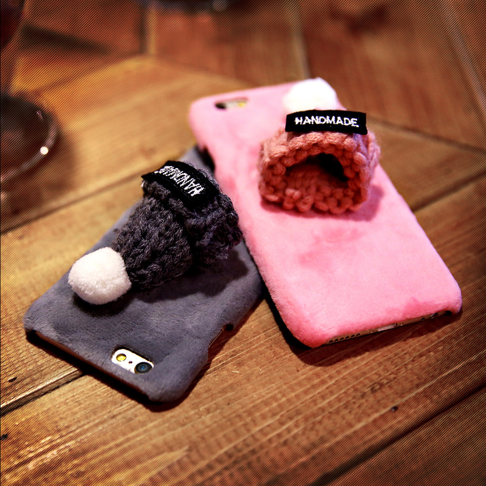 Lovely Christmas Cap Case For iPhone 6 6s Fashion Soft Plush Phone Shell Cute Girly Knitted Hat Protective Cover For iPhone 6 6s(China (Mainland))