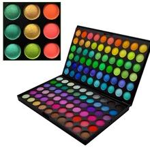 Wholesale 20pcs/lot New Fashion Pro 120 Color Eyeshadow Palette Profession Makeup Cosmetics Shimmer Matte Eye Shadow(China (Mainland))