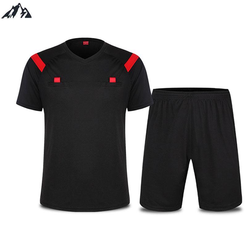 2016 New Men Professional Referee Football Jersey Thai Soccer Referee Judge Uniform Short Shirt Tracksuits Soccer Jersey(China (Mainland))