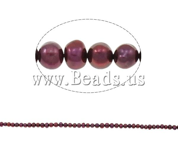 Free shipping!!!Potato Cultured Freshwater Pearl Beads,Statement, natural, claret, 6-7mm, Hole:Approx 0.8mm(China (Mainland))