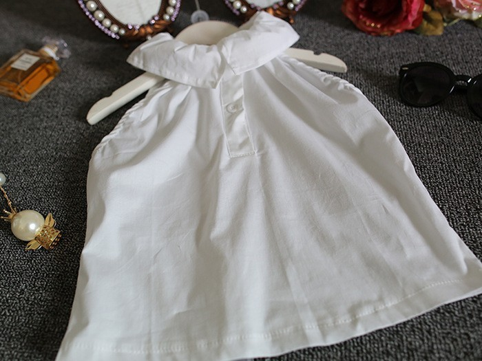 new 2016 summer white vest blouse+chevron skirts shorts 2pcs girls clothing sets conjuntos infantis suit 2~7age kids outfits