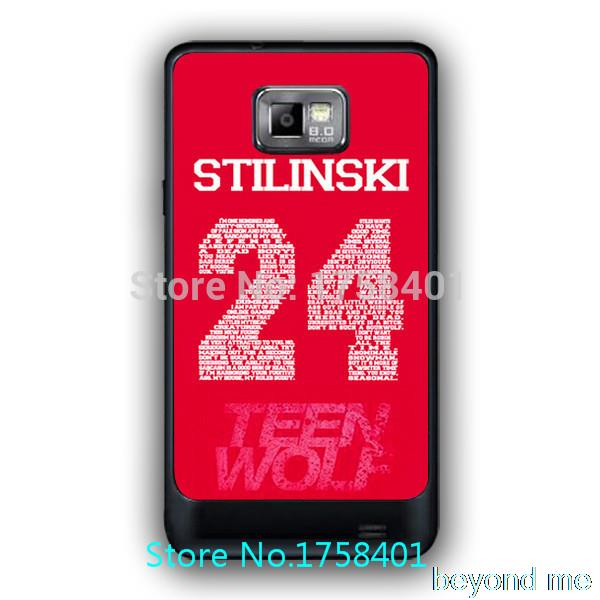 Free shipping Custom designed Teen Wolf Stilinski 24 protect Cover case for samsung galaxy s2 I9100 durable plastic case(China (Mainland))