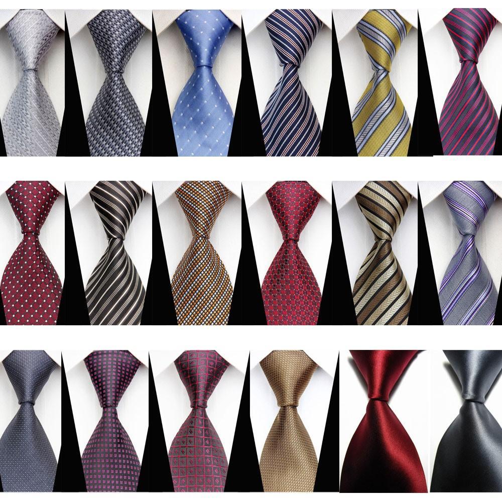 New Mens Striped WOVEN JACQUARD Silk Men/'s Suits Tie Necktie Black White N398