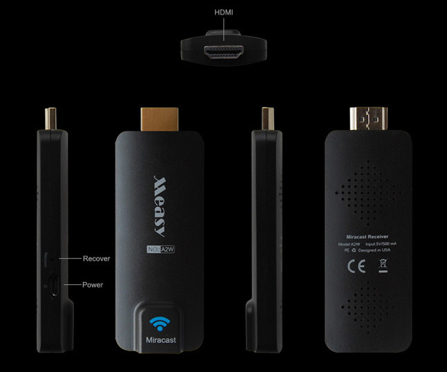 New 2014 Measy A2W HDMI Miracast Wifi Display TV Receiver Wireless Dongle Ezcast Dlna Airplay Chromecast for Android IOS Windows(China (Mainland))