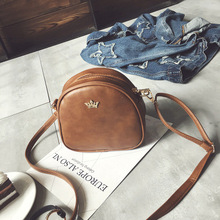 покупка одного и другой в подарок. Женская мода сумка почтальона сумочки корона клепать женщин crossbody сумка PU кожа сумка женская мини пакет bolso мешок 2016 новый дизайн(China (Mainland))