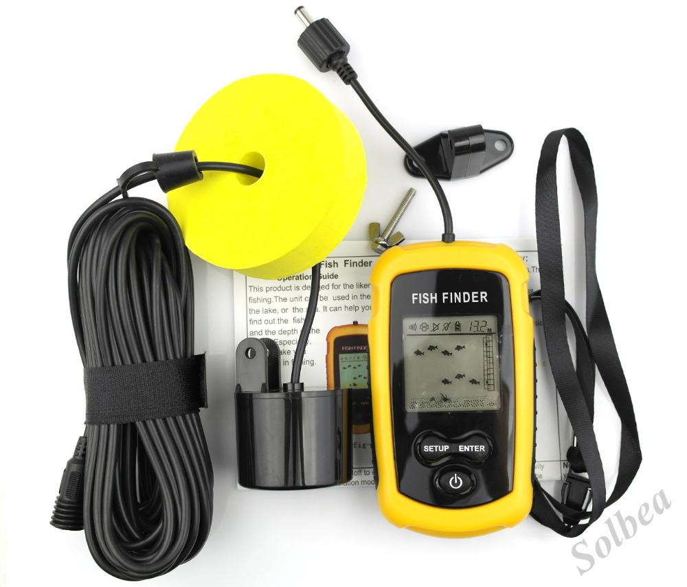 1pc portable lcd fish finder depth sonar sounder alarm for Sonar fish finder