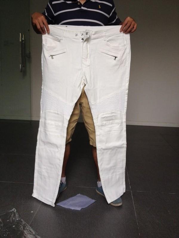 Mens White Jeans Bootcut - Legends Jeans