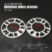 2PCS 10 MM ALLOY ALUMINUM WHEEL SPACERS SHIMS PLATE 4&5 STUD FIT FOR VW FREE SHIPPING(China (Mainland))