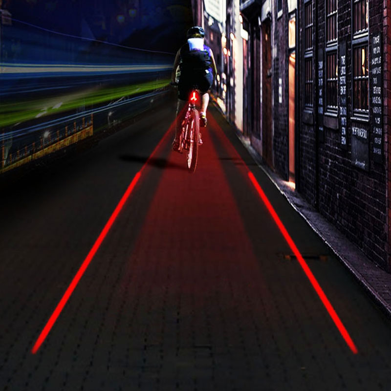 Laser Beam Led Bicycle Bike Tail Light Waterproof Rear Light Bike Safety Warning Rear Lamp Reflector Bicycle Parts Accessories(China (Mainland))
