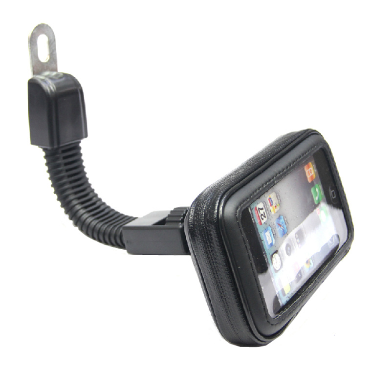 S Size Motorcyle Scooter Electric Car Rearview Mirror Mount Holder Stand Bag Phone GPS Waterproof Case for iPhone4/5/5S(China (Mainland))