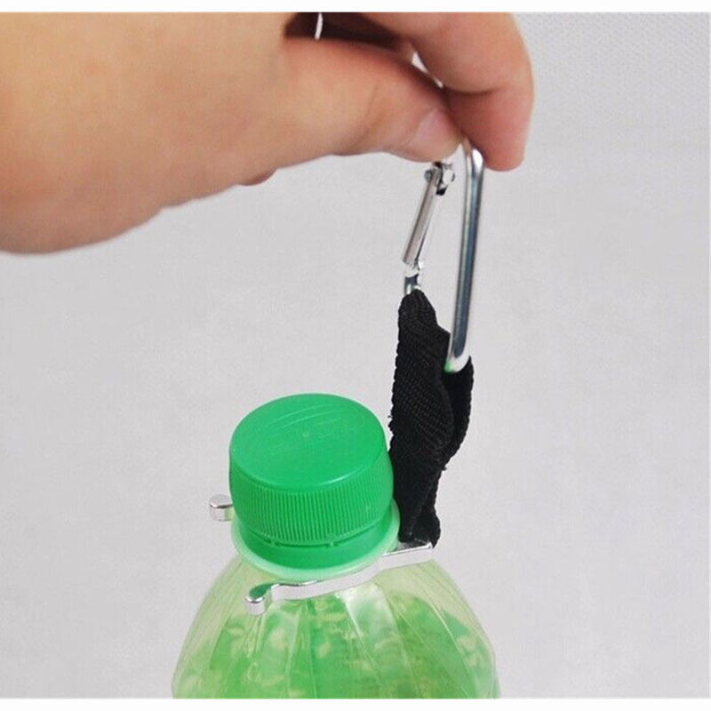 Aluminum Carabiner Clip Water Bottle Holder Camping Hiking Snap Hook Key Chain 3655