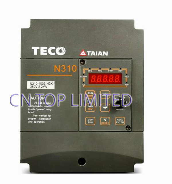 TECO Single Phase/3 Phase 200V 3.1A 0.4KW 0.5HP  Inverter N310-20P5-H NEW<br><br>Aliexpress