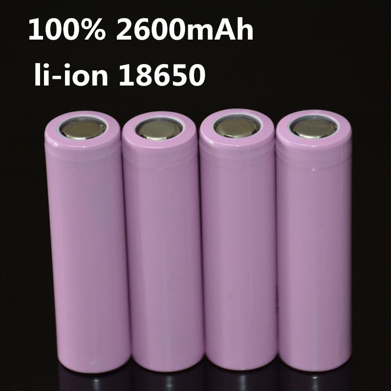 4pcs/lot 3.7V 2600mAh Original 18650 rechargeable li-ion Battery For ICR18650-26F ICR18650 26F 2600 mAH batteries(China (Mainland))