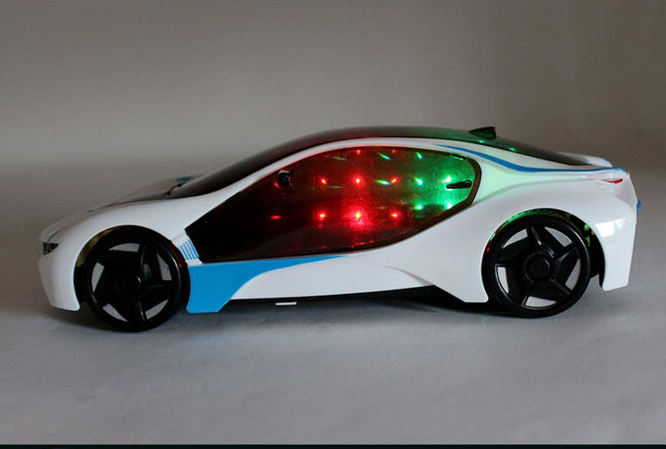 NEW Flashing Glow i8 Car 4WD 1:18 LED Cars Baby Kids Music Classic Plastic Toys not rc Remote(China (Mainland))