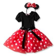 מפואר 1 שנה יום הולדת מסיבת שמלת עבור ליל כל הקדושים קוספליי מיני מאוס להתלבש ילד תלבושות תינוק בנות בגדים לילדים 2 6 T ללבוש(China)