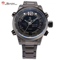New Shark Sport Watches Men Relogio Dual Time Date Day Display Stainless Full Steel Quartz Male