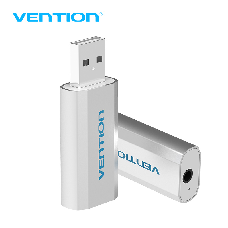 Vention VAB-S15 Series USB Single Hole External Sound Card Four Sections Audio Port 3D Adapter For Laptop PC Desktop Notebook(China (Mainland))