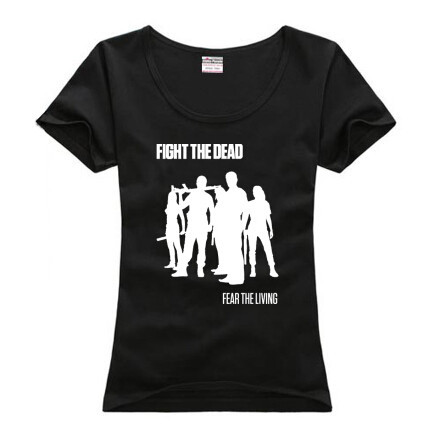 Personalized Walking Dead Women T Shirts cotton Short Sleeve Round Neck Female Sports t-shirts Girls Popular Tee Shirt - M&S STORE store