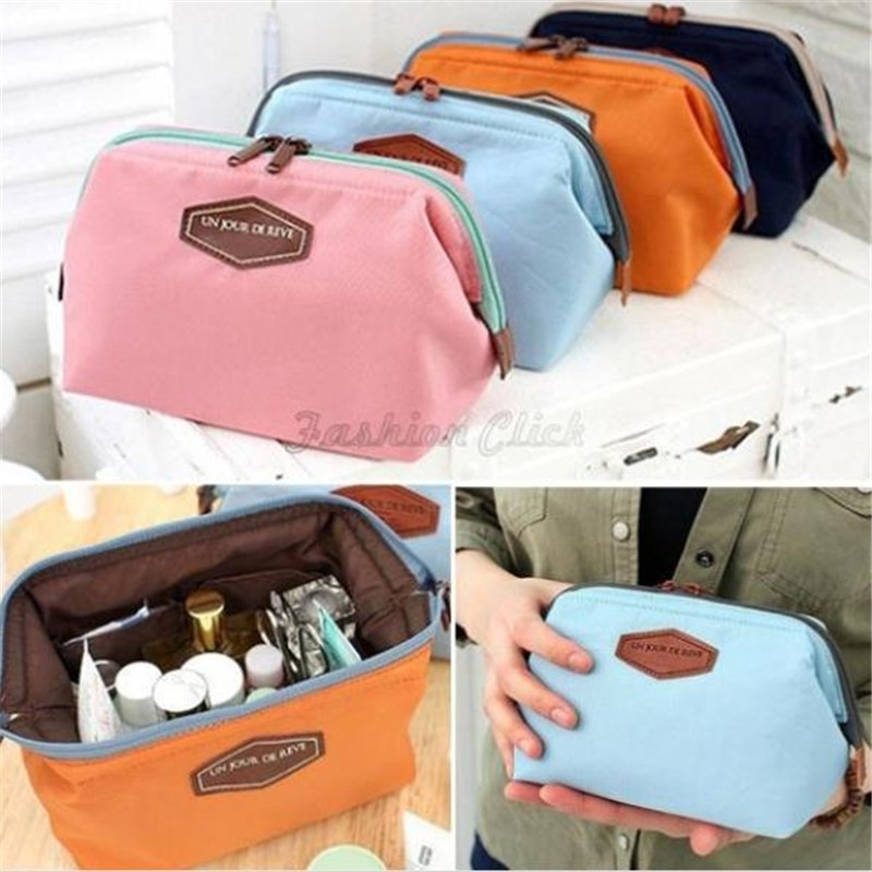 Korea Style Mini Storage Bag For Travel Makeup Organizer Bag Holder Cosmetic Pouch Bags 4 Colors(China (Mainland))