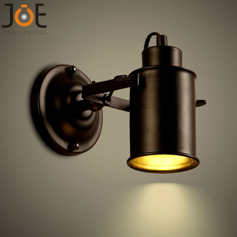 Black Retro Wall Lights : Wall Lamp Vintage Bedside light retro Stair Lamp Wall Lights GU10 LED black Led Lamp For Bedroom ...