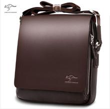 ใหม่จิงโจ้หนังผู้ชายออกแบบกระเป๋าสะพาย,ผู้ชายสบายๆธุรกิจของmessengerกระเป๋า,วินเทจc rossbody ipadแล็ปท็อปกระเป๋าเอกสาร