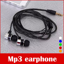 3.5mm Metal Stereo Headphone Earphone For Mp3,Mobile Phone
