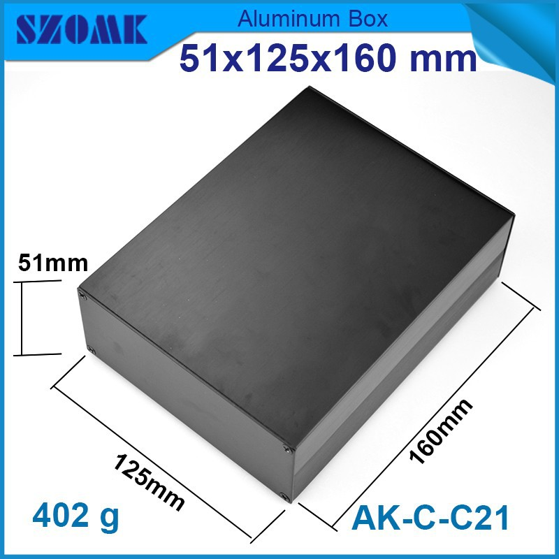 4pcs/lot project box aluminium Black color anodizing and wire drawing very smooth surface which fit pcb size47x121mmdistribution<br><br>Aliexpress