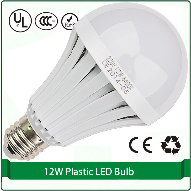 Free Shipping 12w Led Light Bulbs Wholesale E27 2835 Smd Led Plastic 12w Globes Led Bulb Lights