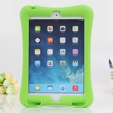 2016 Rubber Case for Apple ipad mini 1 / 2 / 3 full body protective silicone tablet PC Cover with kickstand silicon shell coque(China (Mainland))