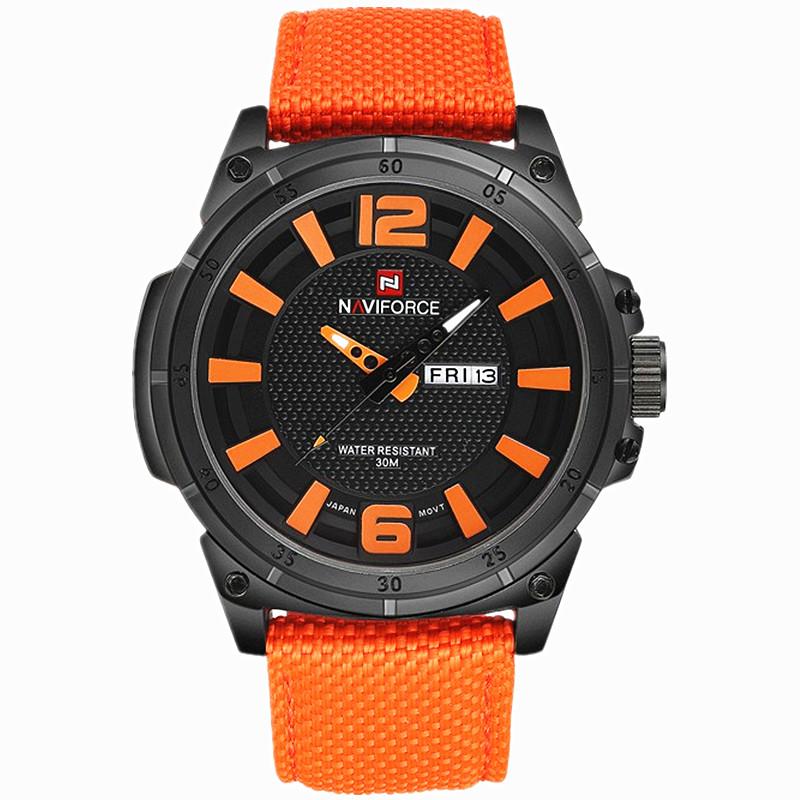 NAVIFORCE 2016 Men's Luxury Watch Military Watch Men Quartz wristWatch Sports Date Clock Brand Men Casual Nylon Watch 9066(China (Mainland))