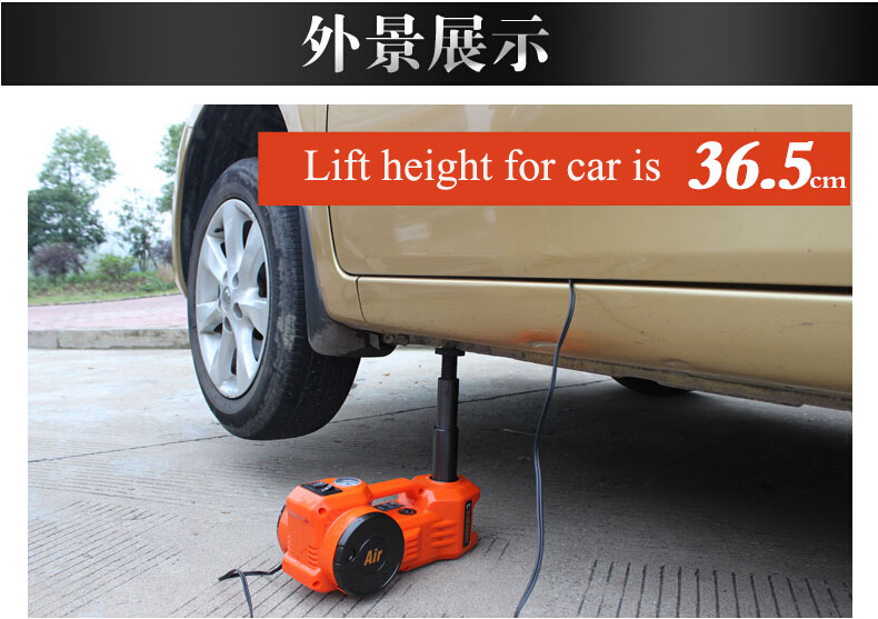 3 in 1 function 12v portable emergency tool electric hydraulic car jack(China (Mainland))