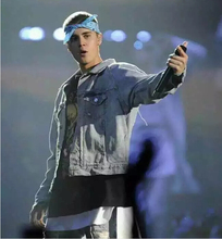 2016 Rare customerized hip hop justin bieber fear of god fog men unisex button up pockets denim jacket with extra long sleeve(China (Mainland))