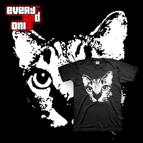 High quality Free Shipping tiger big head cat noc short-sleeve T-shirt planet tiger cats 2 colors(China (Mainland))