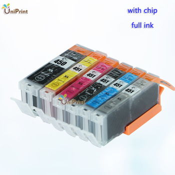 6 x Compatible ink Cartridge PGI-450 CLI-451 BK C M Y GY for Canon PIXMA MG6340 MG7140 iP8740 MG7540 printer Ink