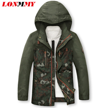 Buy LONMMY M-4XL Camouflage mens jackets Military jacket men clothes Hooded Windbreaker army Casual Hoodies Mens coats 2017 for $49.99 in AliExpress store