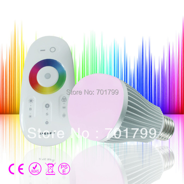 6W RGB led bulb with RF touch remote,AC 86V-265V;can be controlled by our own wifi controller