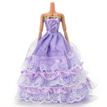 Beautiful Wedding Gown For Barbie Girl Gift Hot Fashion Doll Dress Baby Toys(China (Mainland))