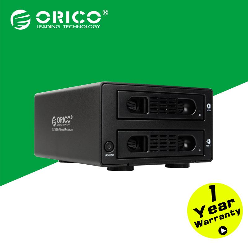 ORICO 3529RUS3-BK Aluminum 2 Bay USB3.0/eSATA External 3.5'' RAID SATA Hard Drive Enclosure-Black(China (Mainland))