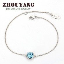 Top Quality Simple Crystal 18K White Gold  Plated Bracelet Party Jewelry Genuine Austrian Crystals Wholesale ZYH234 ZYH235(China (Mainland))