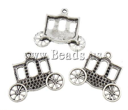 Free shipping!!!Zinc Alloy Pendant Settin antique silver color plated,Korean, nickel, lead & cadmium free, 30x27x3mm