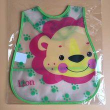 Baberos de bebé de alta calidad Baberos de plástico EVA impermeables para almuerzo bebés Baberos de dibujos animados para niños ropa de alimentación(China)
