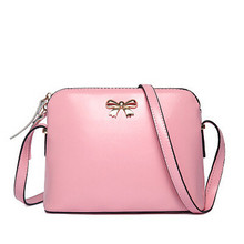 Buy BARHEE Women Leather Handbag Fashion Girls Messenger Bags Candy Color Crossbody Shoulder Bag Shell Small bow Black Pink Beige for $14.17 in AliExpress store