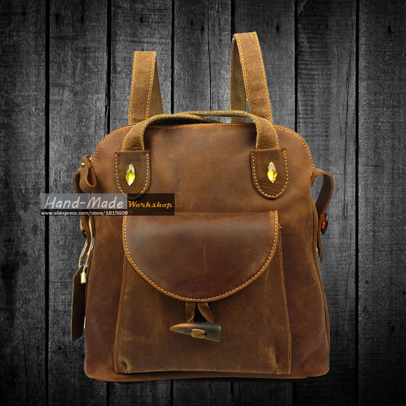 Professional genuine leather bags manufacturer wholesale real madrid cool design backpack(China (Mainland))