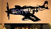Buy Ww2 Jet Fighter Plane Vinyl Sticker Retro Wall Decal Room Decor Art Mural H50cm x W105cm for $12.05 in AliExpress store