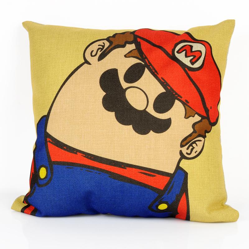 Custom Decorative Pillow Covers : Super Mario 45cm *45cm Decorative Throw Pillows Flower Printing Cushion Cover Car Pillow Case ...