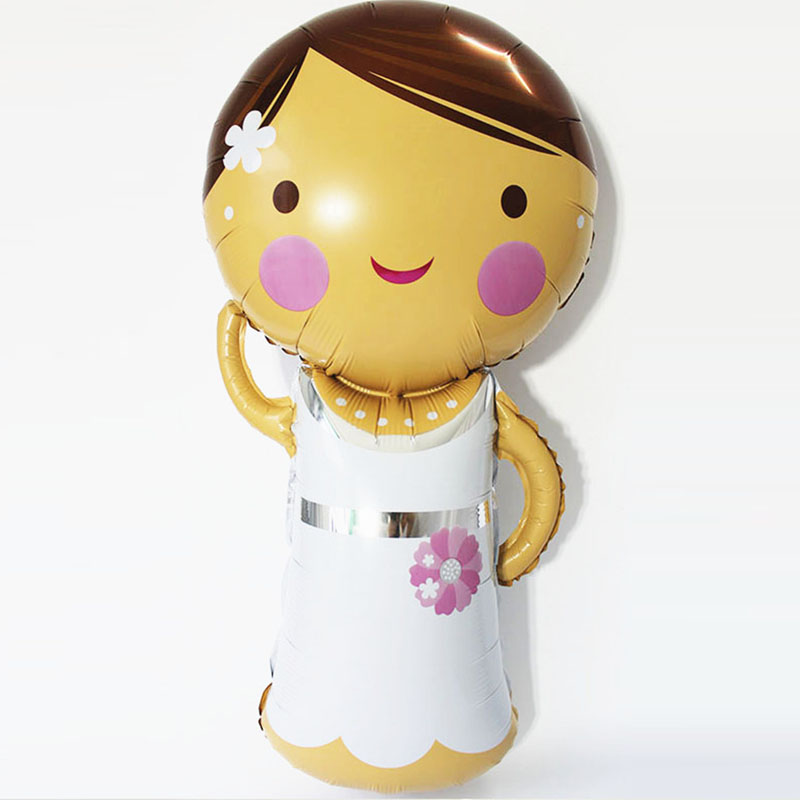110x65cm foil helium inflatable balloon wedding party supplies online bride cartoon modeling personalized wedding balloons(China (Mainland))