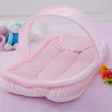 Baby Crib Netting for Newborns Portable Baby Cradle Bed with Pillow Infant Sleeping Bed Travel Folding Baby Bed Mosquito Net(China (Mainland))