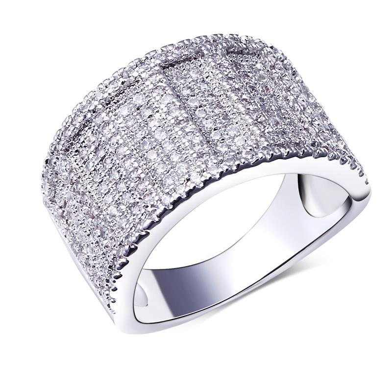 Fashion Secret Sweet Look Office Lady Fashion Ring Platinum Plated Cubic Zirconia Pave Setting Lead Free Rings Jewellery(China (Mainland))