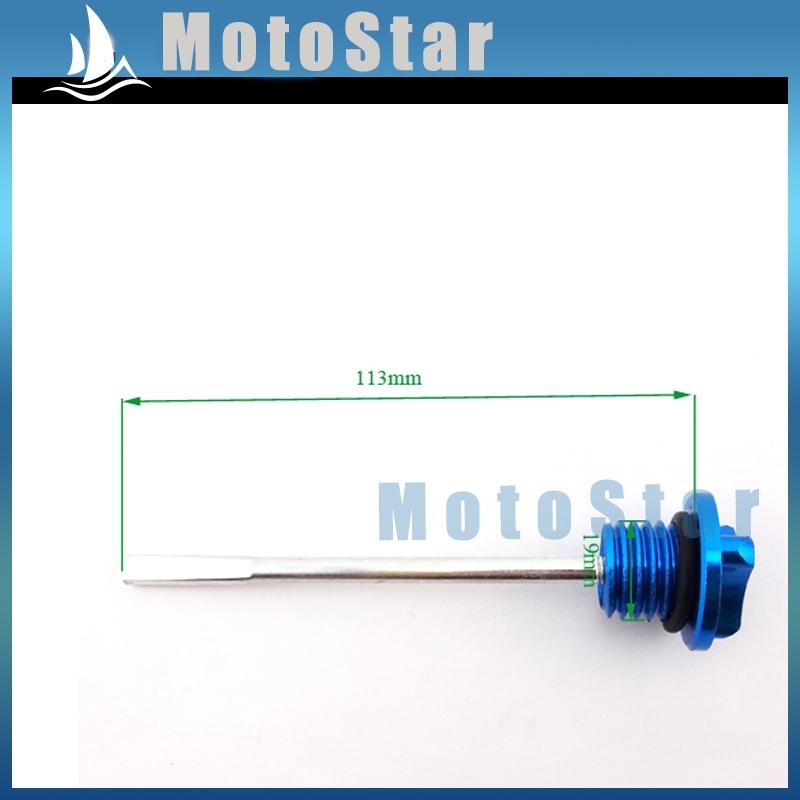 CNC Blue Dip Stick Engine Oil Dipstick ForStomp YCF SDG SSR Pit Dirt Bike Motorcycle 50cc 90cc 110cc 125cc 140cc 150cc 160cc(China (Mainland))